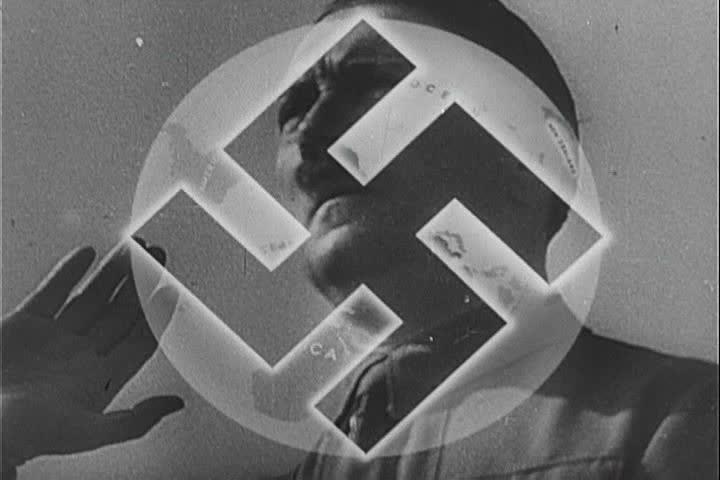 1940s - Hitler at the Nuremberg Rally.