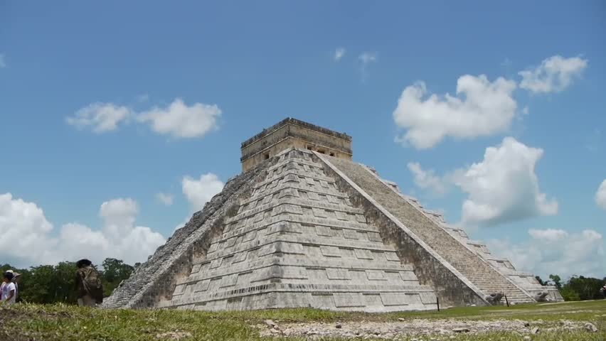 Mayan Ruin of Chichen Itza Time Lapse