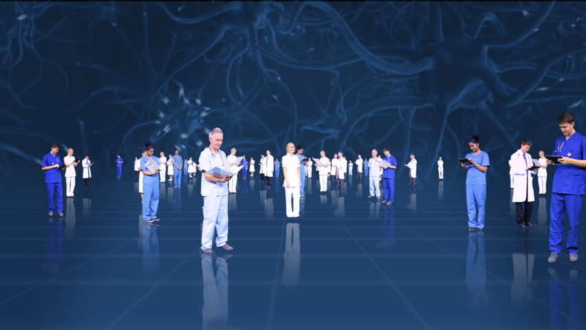 3D fly through montage of medical healthcare professionals using modern wireless technology | Shutterstock HD Video #4270886