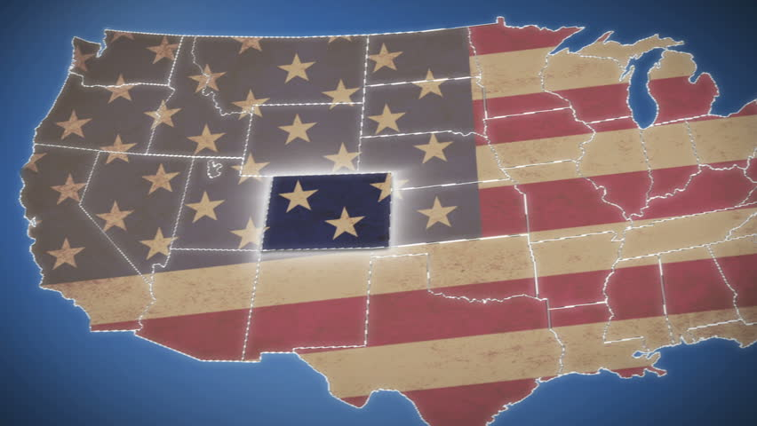 US Election Background Loop Stock Footage Video 20172934