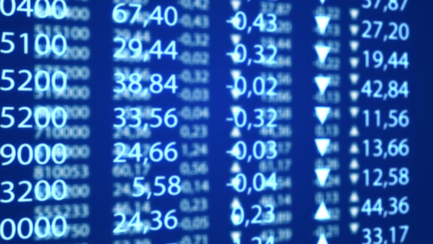 Electronic stock numbers graph going down   Shutterstock HD Video #427621