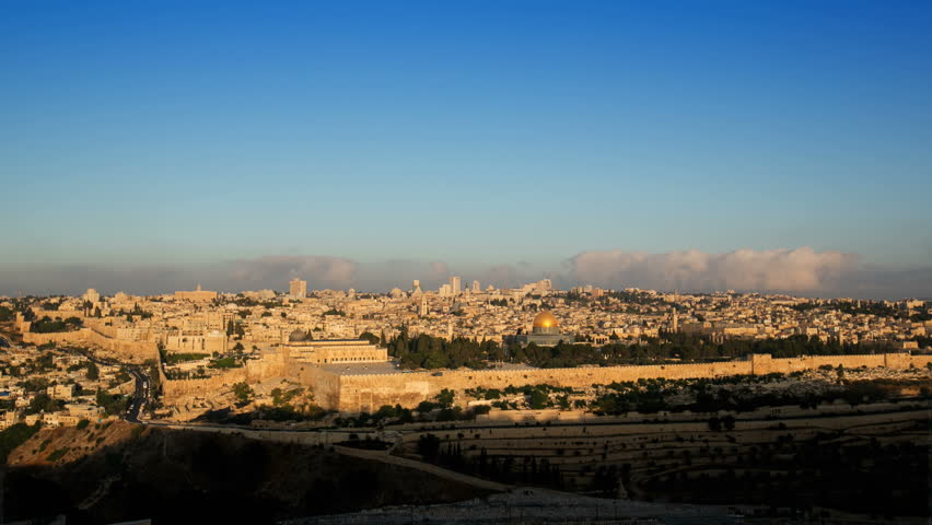 Jerusalem Sunrise Timelapse from the Mount of Olives