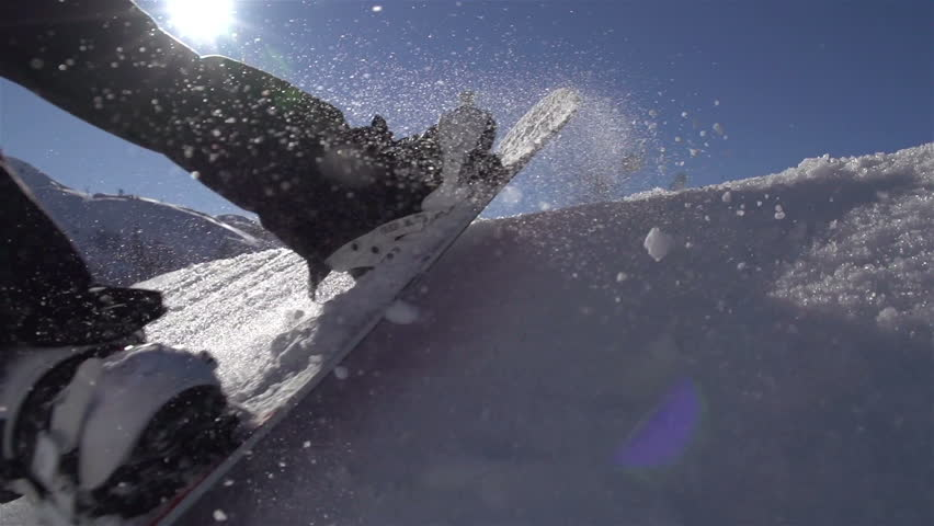SLOW MOTION: Snowboarding jumping on a kicker | Shutterstock HD Video #4318736