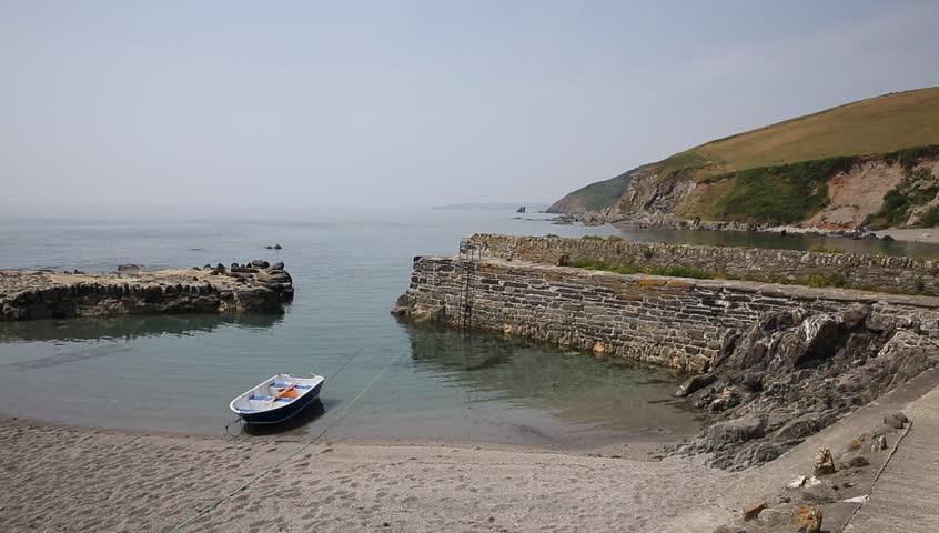Tiny Cornish harbour at Portwrinkle near Looe Cornwall England, United Kingdom