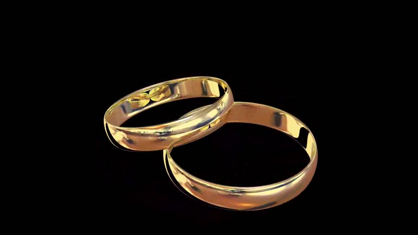 Gold Ring Rotate HD Stock Footage Video