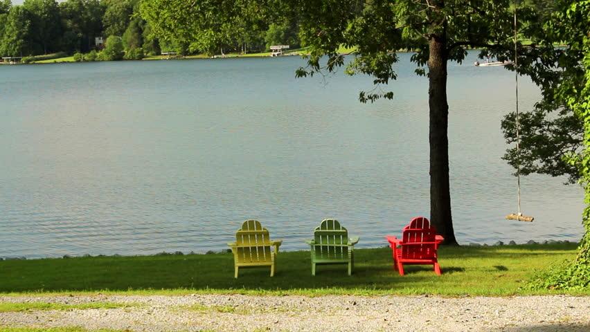 Adirondack Chairs Lake