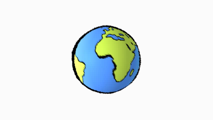 4k Spinning Earth On White Background Animation Seamless ...