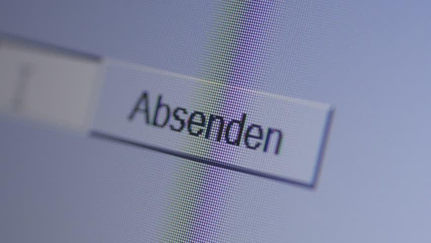 Absenden, sending information on german website