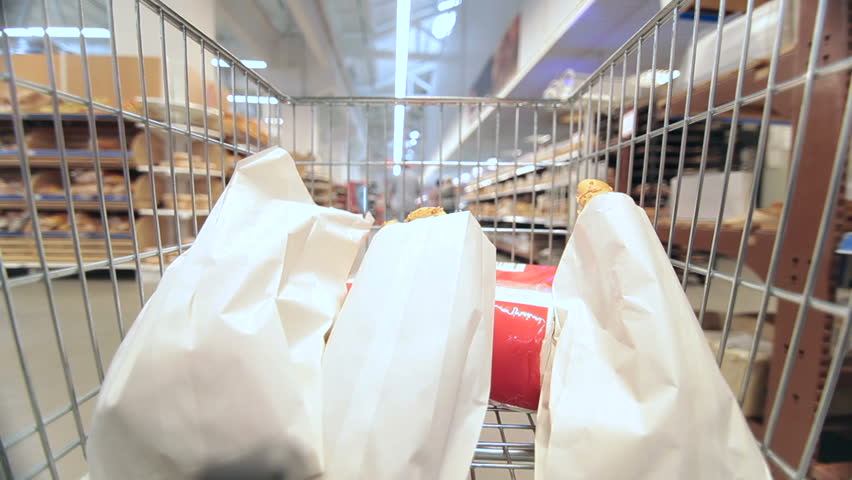 People with shopping carts in supermarket | Shutterstock HD Video #4383221