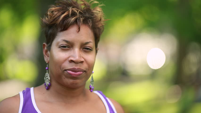 Black African-American Woman Serious Concerned Sad Worried -7736