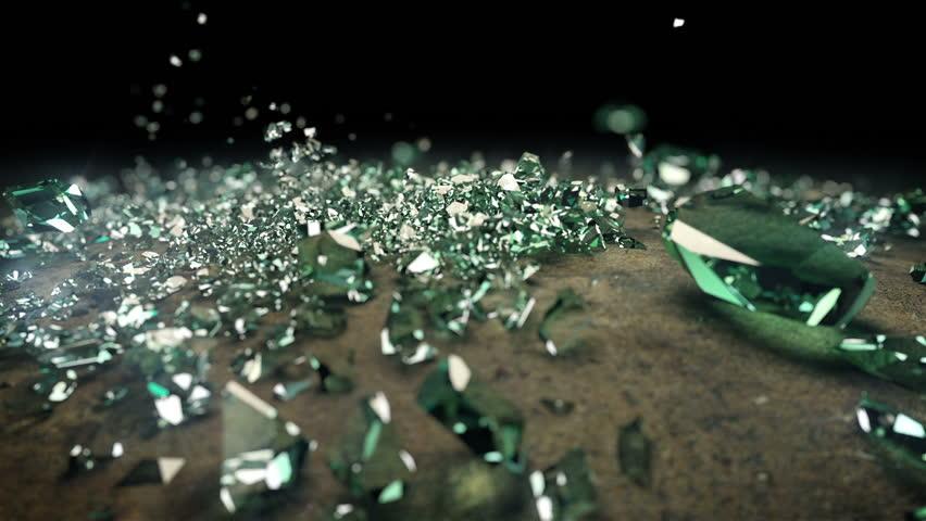 Breaking glass ball