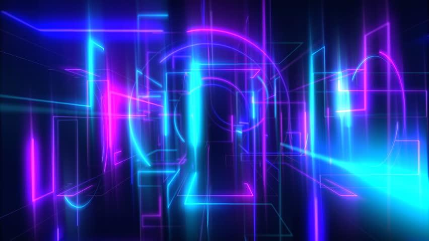 Dazzling Nightclub Glass Mirror Screen Waveform Light
