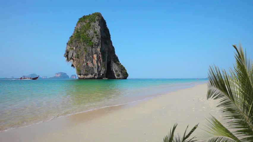 Video 1920x1080 - Tropical beach in Thailand - Krabi, Railay