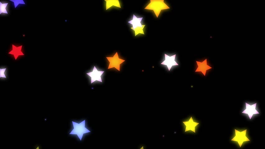 Falling star cartoon mix color05