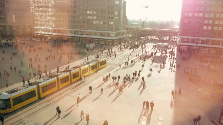 Commuter. people. crowded. city. population. intro. 1080 | Shutterstock HD Video #4435757