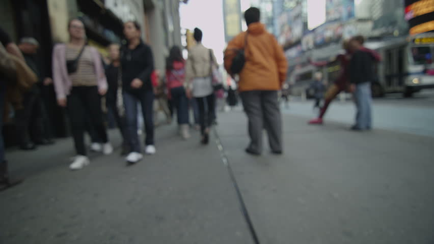 Journey through a New York City street from a pedestrian's point of view. #4447109