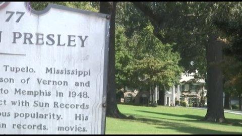 MEMPHIS - CIRCA SEPT 2008: Elvis Presley sign at Graceland.  Memphis, Tennessee, September 2008.
