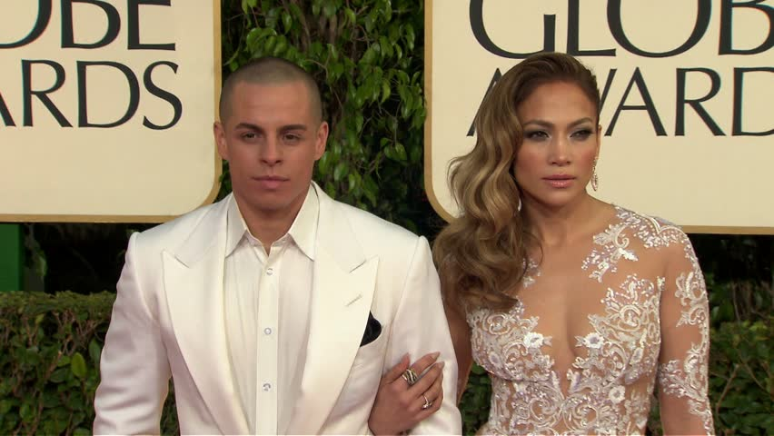 BEVERLY HILLS - January 13, 2013: Jennifer Lopez and Casper Smart at the Golden Globe Awards 2013 in the Beverly Hilton Hotel in Beverly Hills January 13, 2013