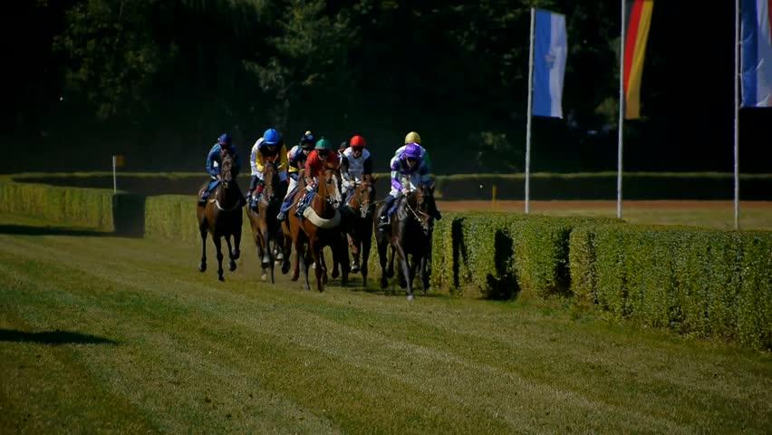 SAARBRÜCKEN - AUG 15, 2013: Horse racing in Germany. Part 13.