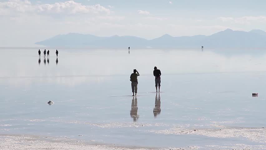 Salar Uyuni salt desert Bolivia people | Shutterstock HD Video #4475846
