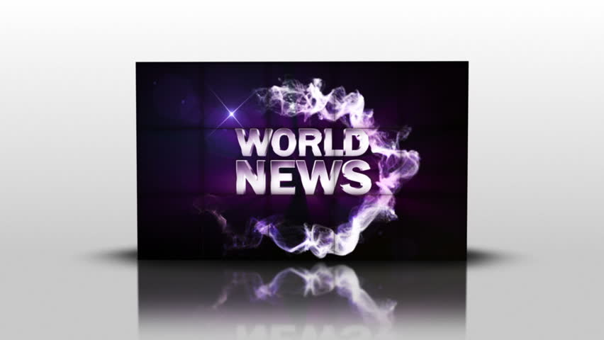 World News Text in Cubes, with Green Screen Transition | Shutterstock HD Video #4505936