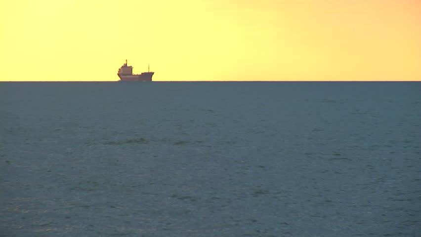 cargo ship in Black sea