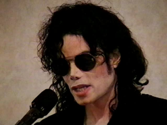 May 15, 1998: Michael Jackson at the Michael Jackson Press Conference for Upcoming Benefit Tour on May 15, 1998
