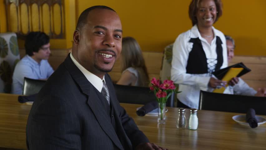 Portrait of successful restaurant owner