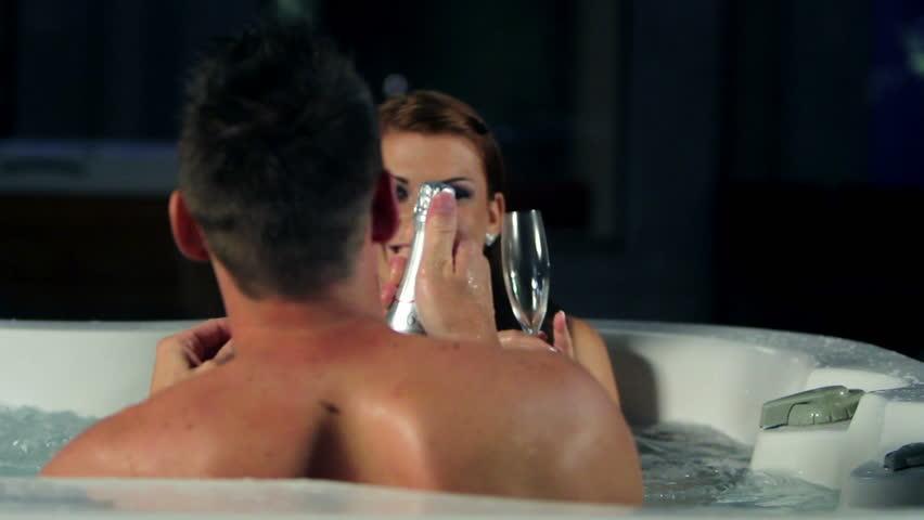 Romantic sexy couple clip video