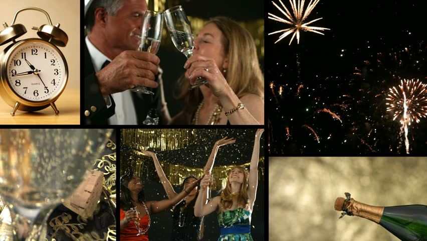 New Years Celebration, video montage