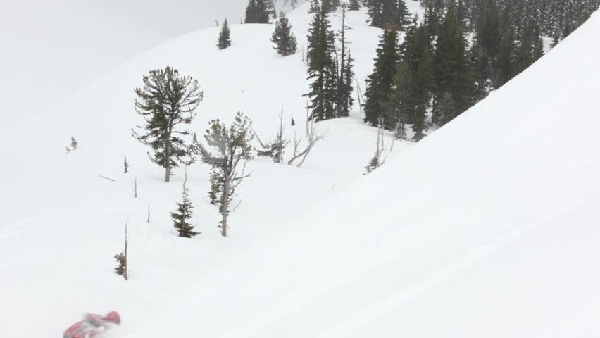 Snowboarders   HD Stock Video Clip