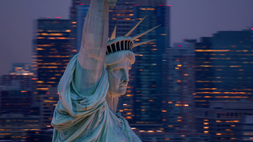 Statue of Liberty at dusk | Shutterstock HD Video #4657517