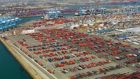 Port of Long Beach, aerial view