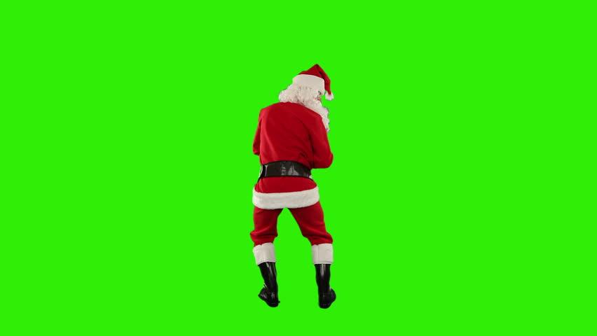 Santa Claus Dancing isolated, Dance 6, Green Screen #4669496