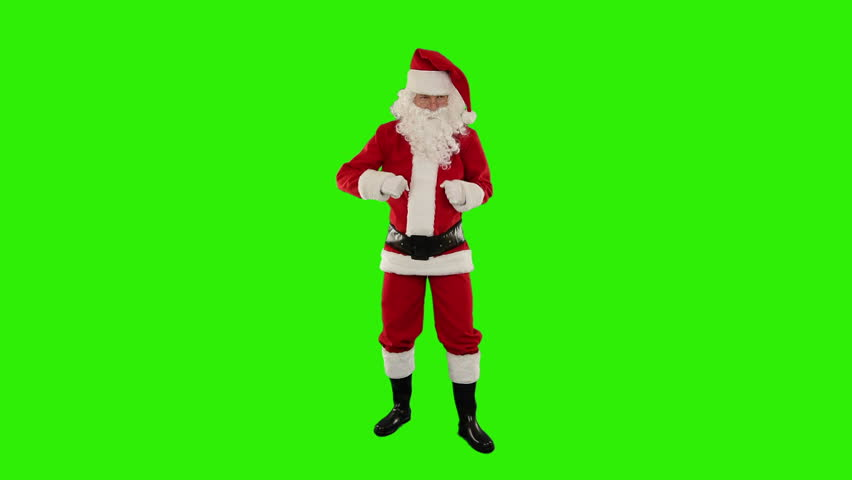 Santa Claus Dancing isolated, Dance 5, Green Screen | Shutterstock HD Video #4669526
