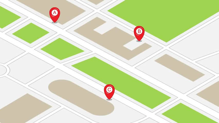 Map animation with map pins and arrows | Shutterstock HD Video #4677119