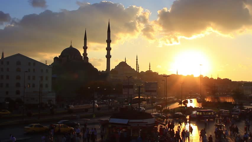 Istanbul City Sunset