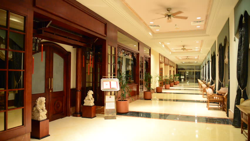 The Entrance In Restaurant And Interior Of Luxury Hotel With Working Ventilators Ras Al Khaimah