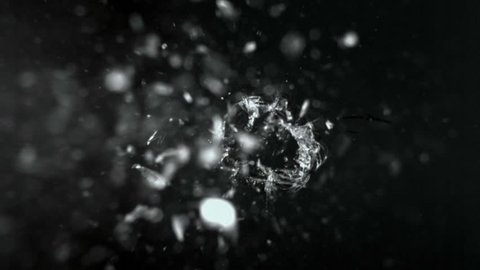 Bullet through glass, slow moition