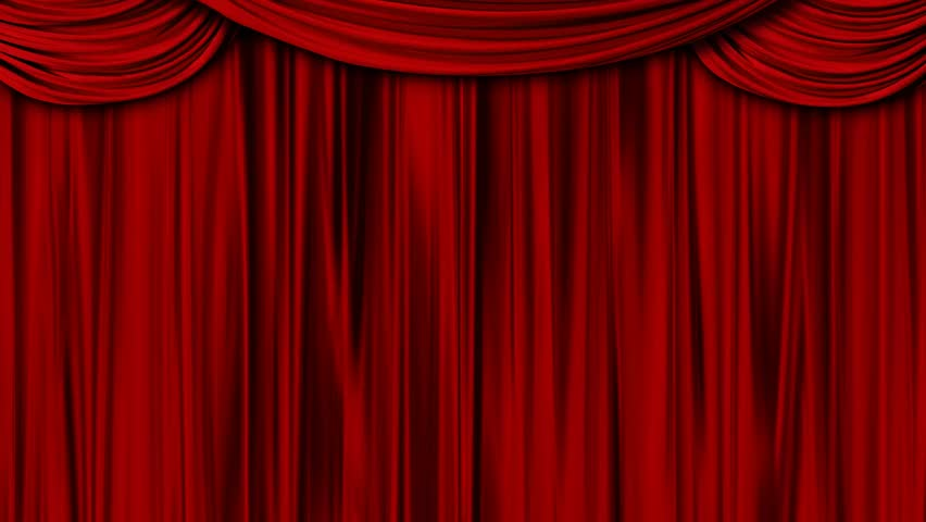 Red Curtains   HD Stock Video Clip
