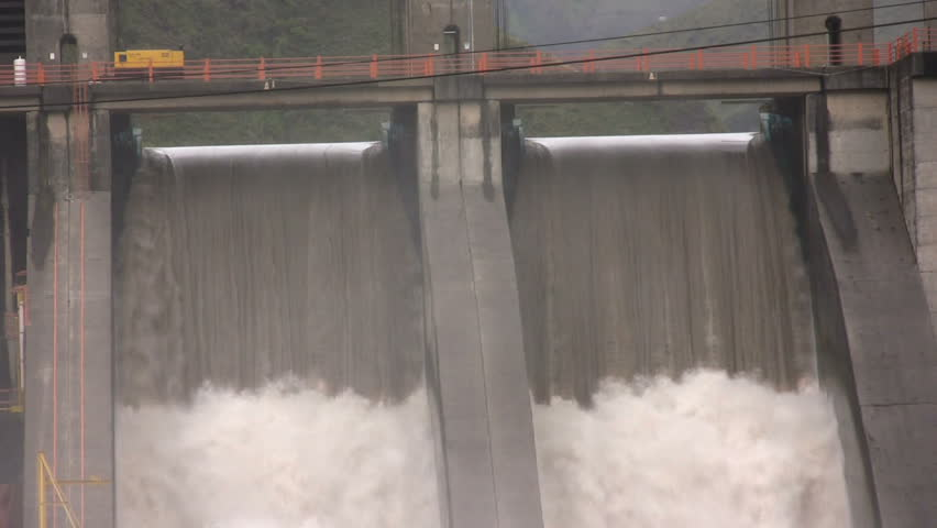 The Agoyan Hydroelectric Dam on the Pastaza River, Ecuador