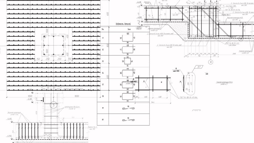 Someone Putting Blueprint For House Construction In German ...