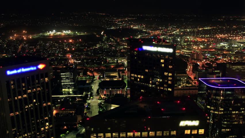 Cityscape Timelapse 02 Loop LA Downtown Night | Shutterstock HD Video #4787726