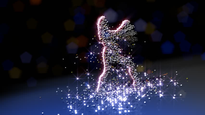 Particle girls dancing, HD 1080p, seamless loop