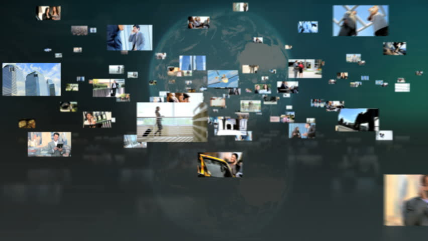 Fly through 3D montage of worldwide business, travel, and multi-ethnic business people | Shutterstock HD Video #4804862