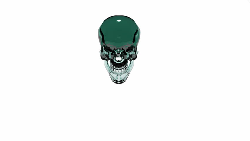 Glass Skull smashes front version
