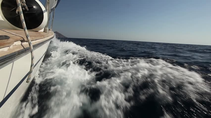 Boat during of sailing regatta (HD)