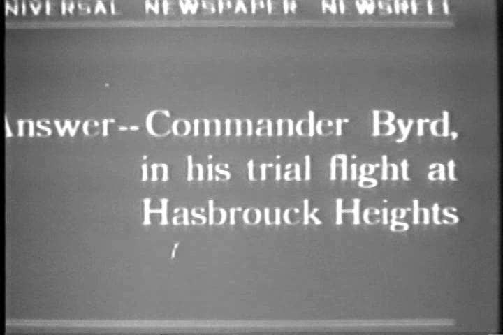 1920s - Commander Byrd crashes his plane on a trial flight at Hasbrouck Heights in 1927. | Shutterstock HD Video #4847426