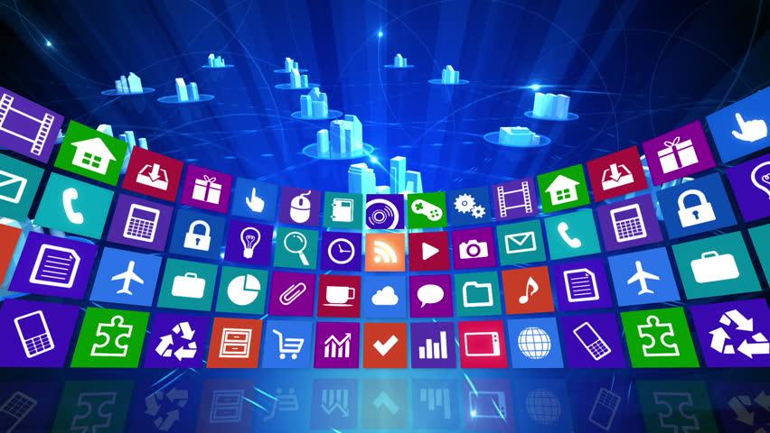 Tablet Computer apps. | Shutterstock HD Video #4859516