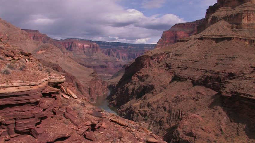 A view along the Grand Canyon in Arizona. | Shutterstock HD Video #4899026